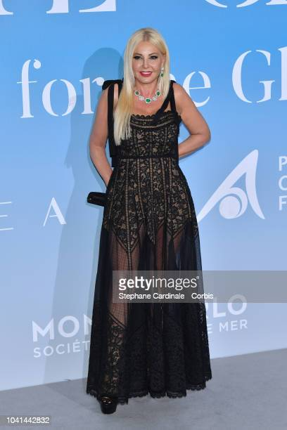Monika Bacardi attends the MonteCarlo Gala for the Global Ocean 2018 on September 26 2018 in MonteCarlo Monaco