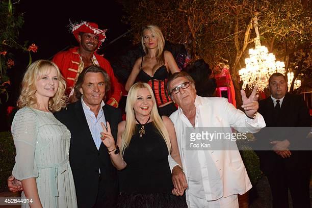 Monika Bacardi Claude Ott and Guests attend the Monika Bacardi Summer Party 2014 St Tropez at Les Moulins de Ramatuelle on July 27 2014 in Saint...