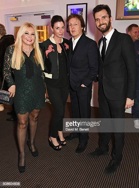 Monika Bacardi Mary McCartney Sir Paul McCartney and Andrea Iervolino attend a cast and crew screening of 'This Beautiful Fantastic' at BAFTA on...