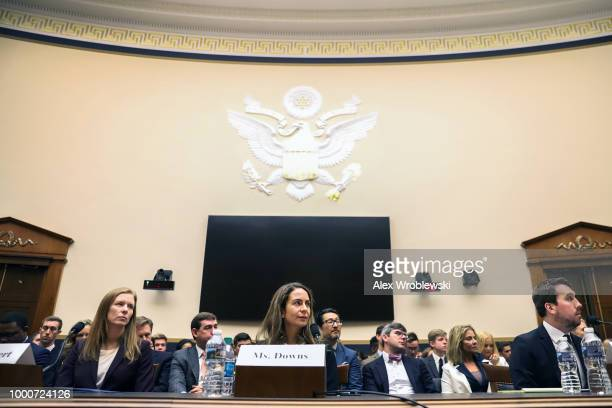 Nick Pickles the Senior Strategist at Twitter testifies to the House Judiciary Committee about content filtering practices on July 17 2018 in...