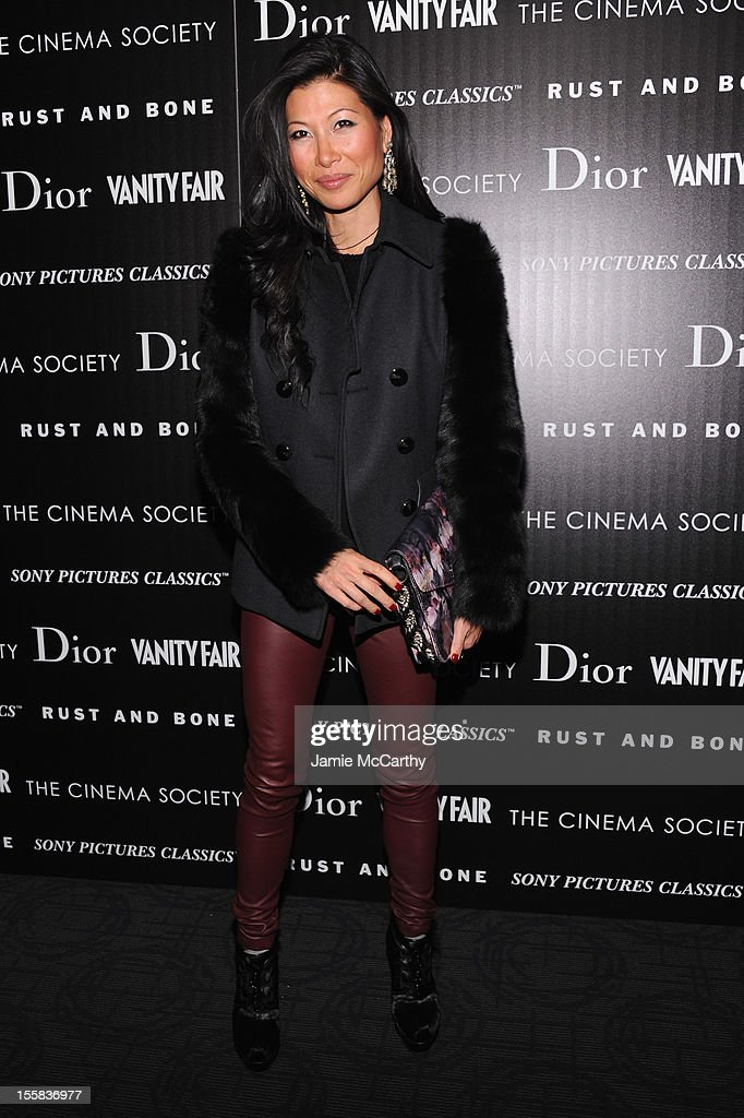 Monika Chiang attends The Cinema Society with Dior & Vanity Fair screening of 'Rust and Bone' at Landmark's Sunshine Cinema on November 8, 2012 in New York City.