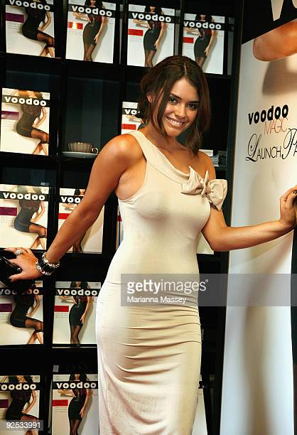 Monika Clarke arrives for the 'Voodoo Magic' photo call in Federation Square on October 30 2009 in Melbourne Australia