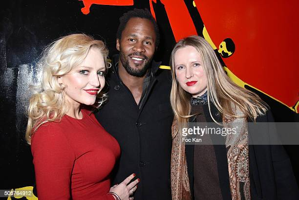 Monika Ekiert producer Sydney Gallonde and Kasia Grzelak fashion designer for Hername is Rita attend the 'Polish Hope' Short Movie Screening Party at...