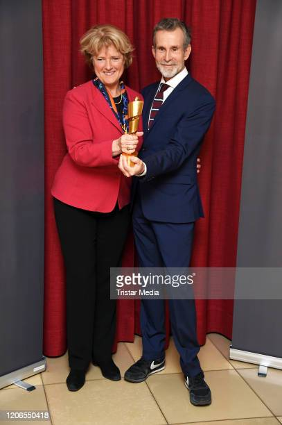 Monika Gruetters and Ulrich Matthes attend the Lola - German Film Award 2020 - Nominees Announcement at Delphi Filmpalast on March 11, 2020 in...