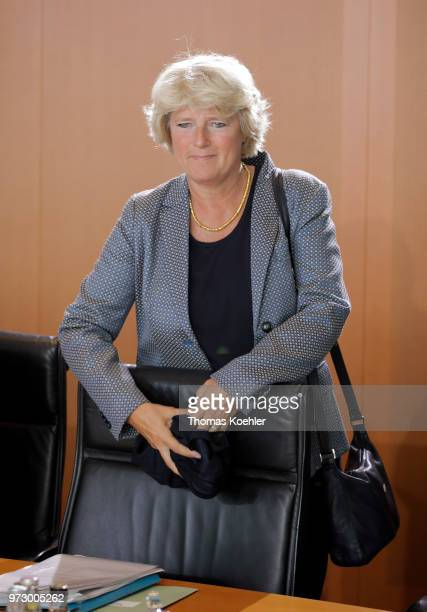 Monika Gruetters arrives for the Weekly Government Cabinet Meeting on June 13 2018 in Berlin Germany