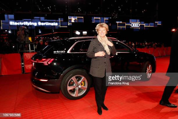 Monika Gruetters arrives in Audi etron car for the Vice premiere during the 69th Berlinale International Film Festival Berlin at Berlinale Palace on...