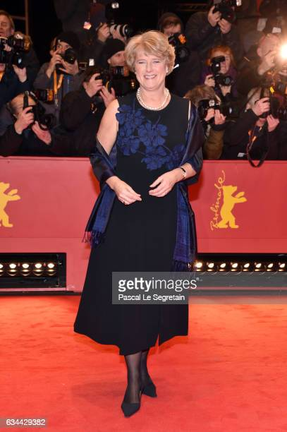 Monika Gruetters attend the 'Django' premiere during the 67th Berlinale International Film Festival Berlin at Berlinale Palace on February 9 2017 in...