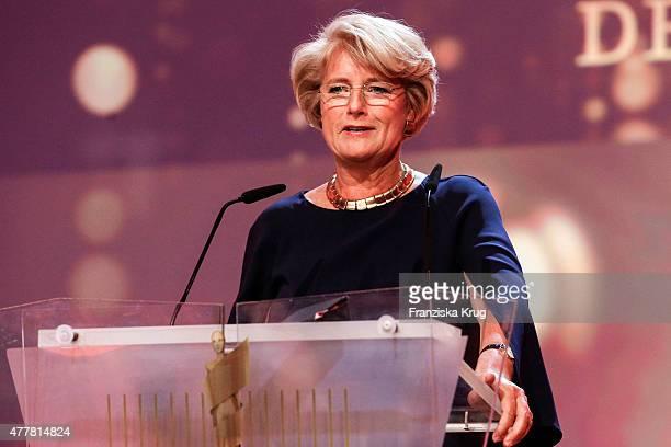 Monika Gruetters attends the German Film Award 2015 Lola show at Messe Berlin on June 19 2015 in Berlin Germany