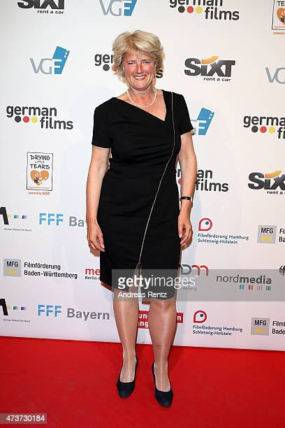 Monika Gruetters attends the German Films Reception At La Plage Majestic during the 68th annual Cannes Film Festival on May 16 2015 in Cannes France