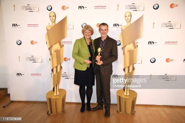 Monika Gruetters Berlins Minister of Culture and Ulrich Matthes newly elected President of the Deutsche Filmakadenie attend the nominees announcement...