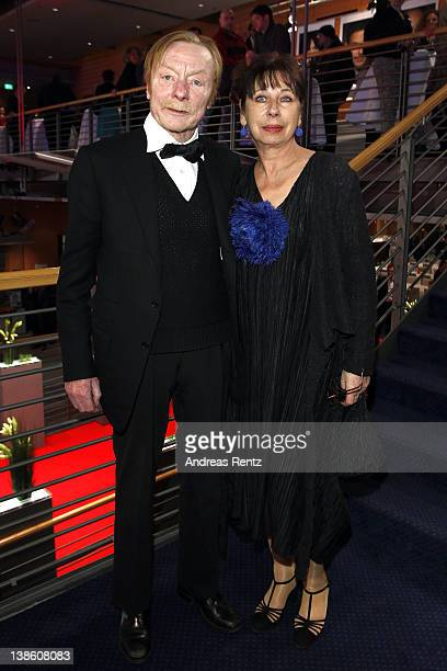 Monika Hansen and Otto Sander attend the Opening Party during day one 62nd Berlin International Film Festival at the Berlinale Palast on February 9...
