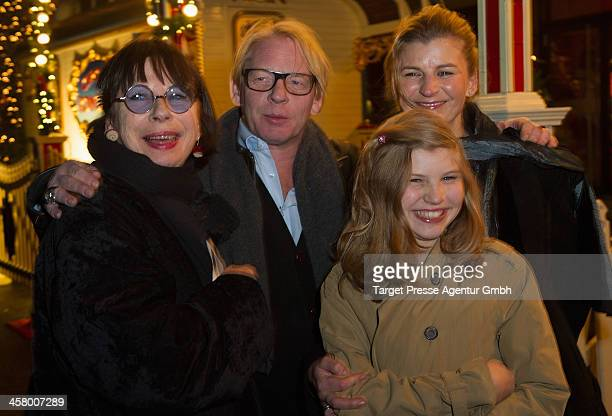 Monika Hansen Ben Becker Lilith Becker and Astrid Seidl attend the 10th Roncalli Christmas Circus at Tempodrom on December 19 2013 in Berlin Germany