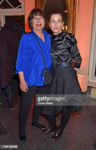 Monika Hansen Meret Becker during the Ben Becker Affe party at Admiralspalast on February 18 2020 in Berlin Germany