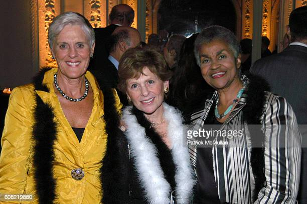 Monika Heimbold Marjorie Miller and Yvette Richardson attend CURTAIN UP Celebrating SARAH LAWRENCE COLLEGE Retiring President MICHELE MYERS at The...