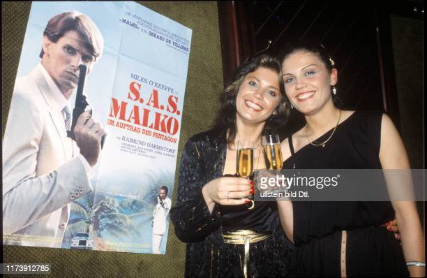 Monika Kaelin and sister Marianne at film opening night 1982