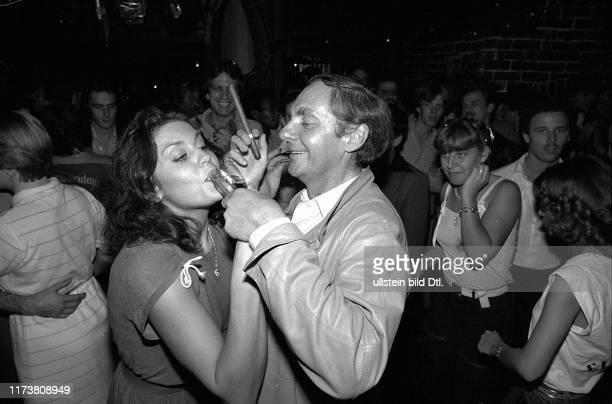 Monika Kaelin dancing with Harald Juhnke 1981