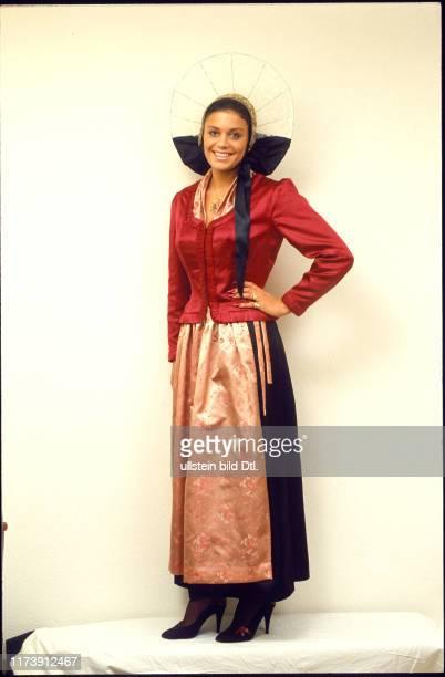 Monika Kaelin wearing a national costume 1983