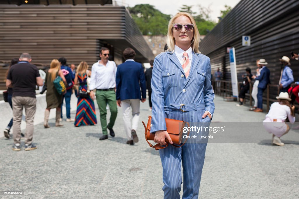 Street Style: June 15 - 92. Pitti Uomo : News Photo