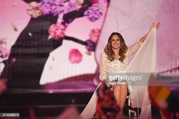 Monika Kuszynska of Poland performs on stage during the second Semi Final of the Eurovision Song Contest 2015 on May 21, 2015 in Vienna, Austria. The...