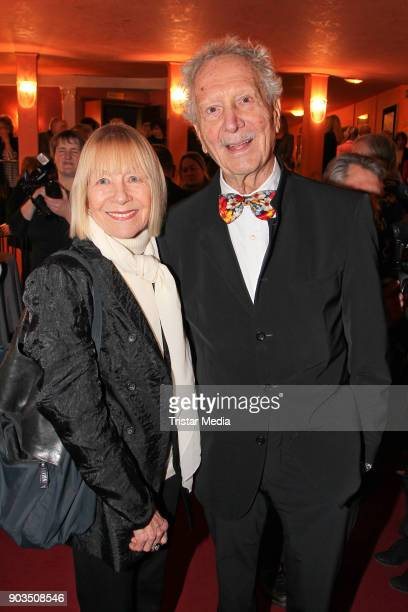 Monika Lundi and her husband Hans Stetter during the 'Der PantoffelPanther' premiere on January 10 2018 in Munich Germany