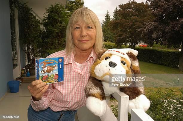 Monika Lundi Homestory München Balkon Plüschtier Vipo HörspielCD Schauspielerin Promi PNr 888/2005 BB Foto P Bischoff/MMate/CD Veröffentlichung nur...