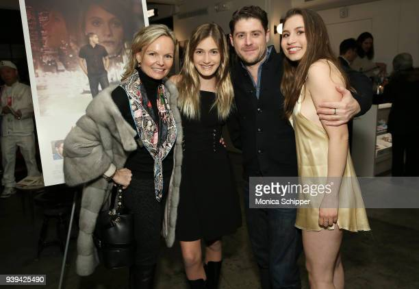 Monika McLennan actress Nicole Elizabeth Berger actor and director Jon Abrahams and Bella Zionts attends the All At Once New York Premiere at...
