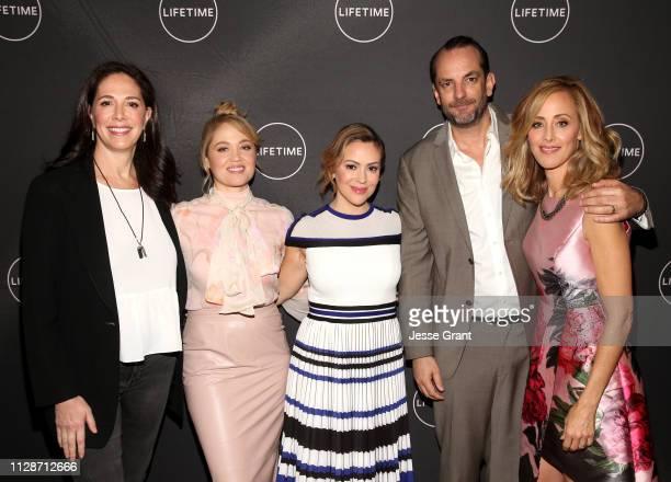 Monika Mitchell Erica Christensen Alyssa Milano Manu Boyer and Kim Raver attend Lifetime's Female Directors and Leading Actresses 2019 Winter...
