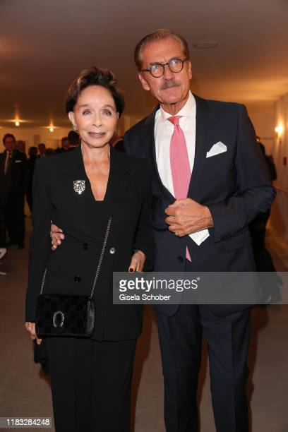 Monika Peitsch and her husband Sven HansenHoechstaedt at the opera premiere of Die tote Stadt by Erich Wolfgang Korngold at Bayerische Staatsoper on...