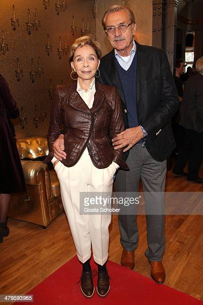 Monika Peitsch and her husband Sven Hoechstaedt attend the NDF After Work Presse Cocktail at Parkcafe on March 19 2014 in Munich Germany