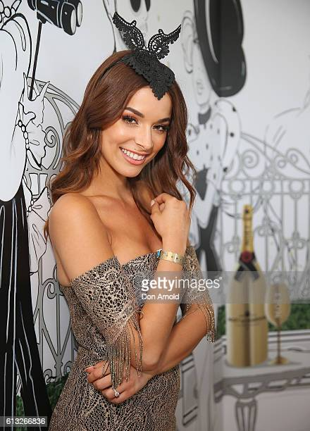 Monika Radulovic attends Spring Champion Stakes Day at Royal Randwick Racecourse on October 8 2016 in Sydney Australia