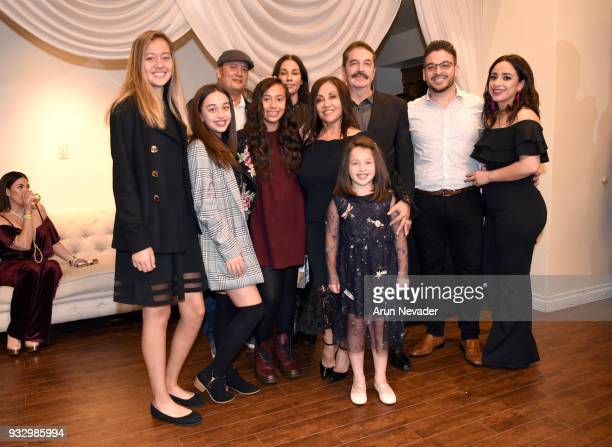 Monika Rosete Javier Rosete and family attend Los Angeles Fashion Week Powered by Art Hearts Fashion LAFW FW/18 10th Season Anniversary Backstage and...