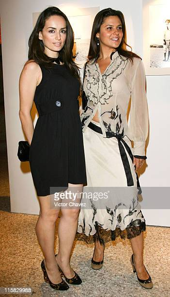 Monika Sanchez and Ana De La Reguera during Louis Vuitton Exhibition with Photographer Jean Lariviere Mexico City at Museo Rufino Tamayo in Mexico...