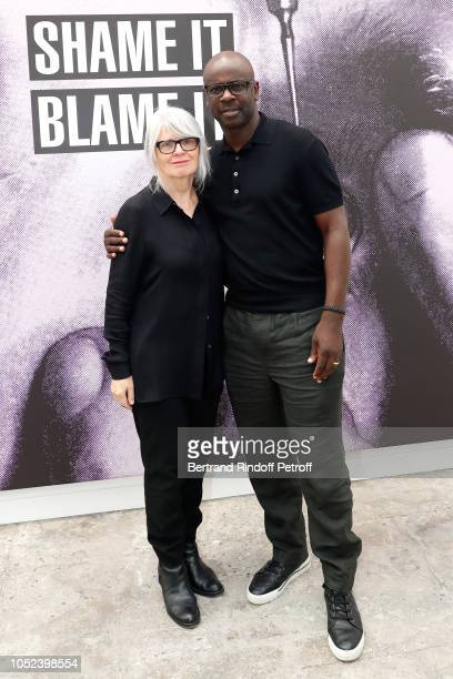 Monika Spruth and Lilian Thuram attend the FIAC 2018 International Contemporary Art Fair Press Preview at Grand Palais on October 17 2018 in Paris...