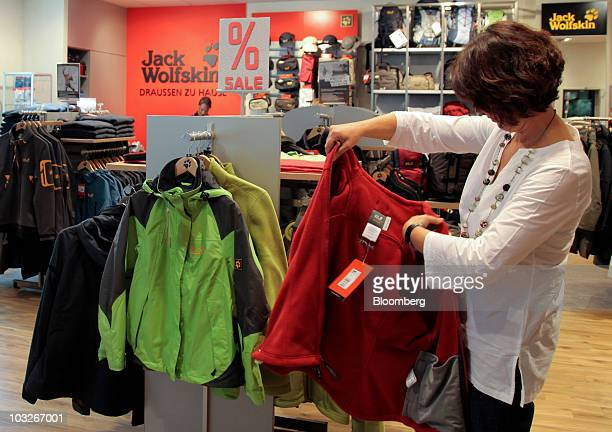 online retailer d7722 a109f Jack Wolfskin Products In A Shop As Company Considering Sale ...