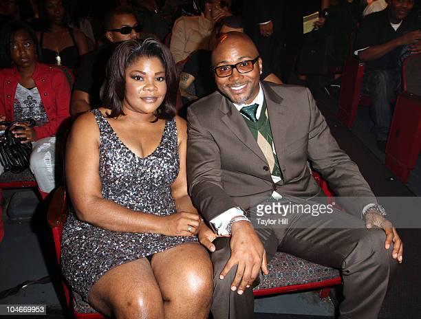 Mo'Nique and Sidney Hicks attend the BET Hip Hop Awards '10 at Boisfeuillet Jones Atlanta Civic Center on October 2 2010 in Atlanta Georgia