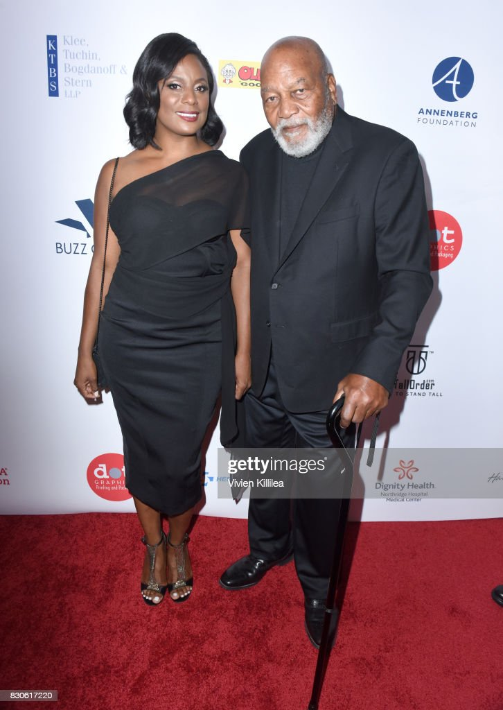 Monique Brown and Jim Brown attend the 17th Annual Harold & Carole Pump Foundation Gala at The Beverly Hilton Hotel on August 11, 2017 in Beverly Hills, California.