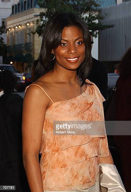 """Monique Brown, wife of Jim Brown, attends the film premiere of HBO & Spike Lees """"Jim Brown, All American"""" April 17, 2002 in Beverly Hills, CA."""