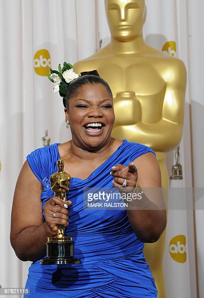 Mo'nique celebrates her Oscar for a Best Performance by an Actress in a Supporting Role for Prescious Based on the Novel 'Push' by Saphire during the...