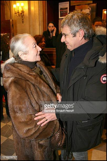 Monique Chaumette and Michel Boujenah at Theatre Production Of The Show Audition At Theatre Edouard Vii In Paris