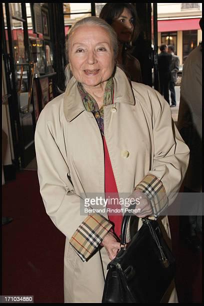 Monique Chaumette Noiret at Homage To JeanClaude Brialy At Theatre Des Bouffes Parisiens