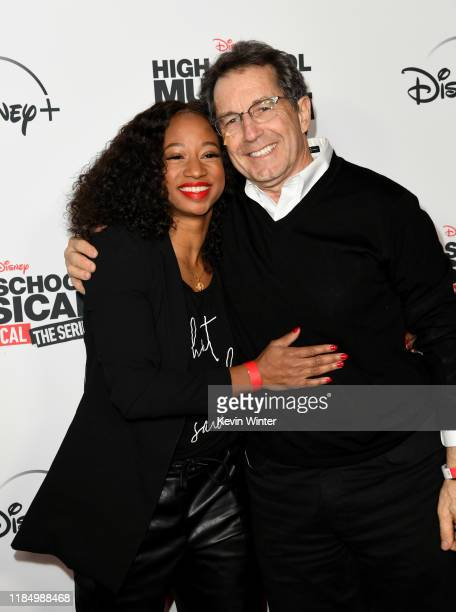 """Monique Coleman and Gary Marsh arrive at the premiere of Disney+'s """"High School Musical: The Musical: The Series"""" at Walt Disney Studio Lot on..."""