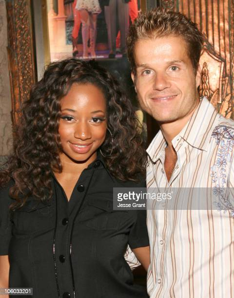 Monique Coleman and Louis van Amstel during Dirty Rotten Scoundrels Los Angeles Premiere Performance Arrivals at Pantages Theatre in Hollywood...