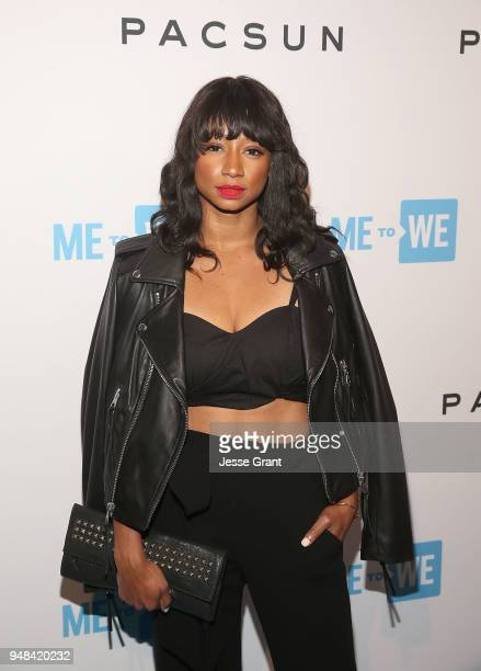 Monique Coleman attends Party with a Purpose, the Official Pre-Party to WE Day California at The Peppermint Club on April 18, 2018 in Los Angeles,...