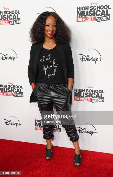 """Monique Coleman attends the premiere of Disney+'s """"High School Musical: The Musical: The Series"""" at Walt Disney Studio Lot on November 01, 2019 in..."""