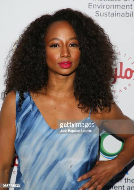 Monique Coleman attends UCLA's 2018 Institute of the Environment and Sustainability Gala on March 22 2018 in Beverly Hills California