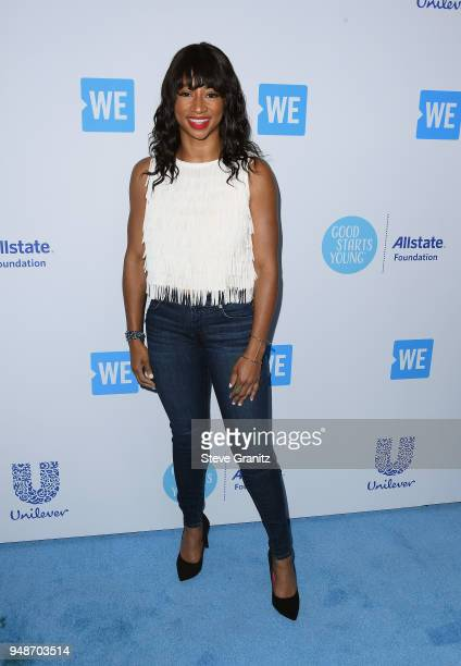 Monique Coleman attends WE Day California at The Forum on April 19 2018 in Inglewood California