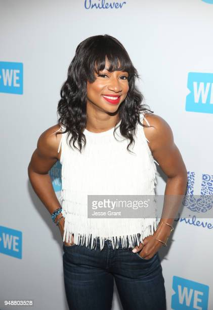 Monique Coleman attends WE Day California at The Forum on April 19, 2018 in Inglewood, California.