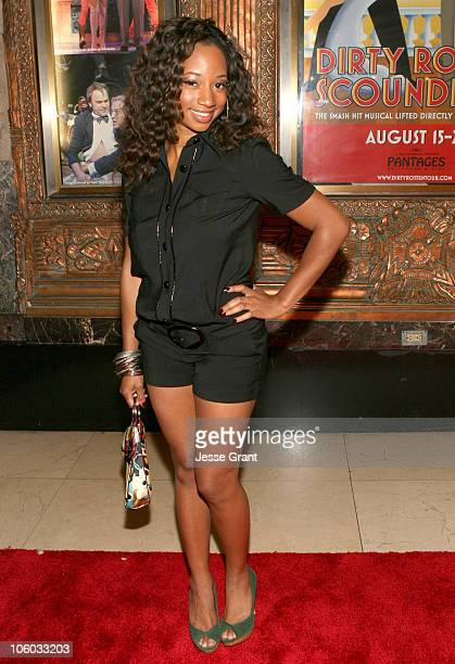 Monique Coleman during Dirty Rotten Scoundrels Los Angeles Premiere Performance Arrivals at Pantages Theatre in Hollywood California United States