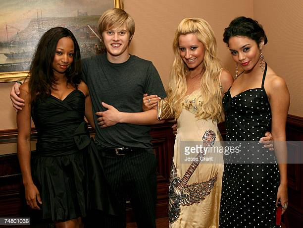 Monique Coleman Lucas Grabeel Ashley Tisdale and Vanessa Anne Hudgens at the Ritz Carlton in Pasadena California