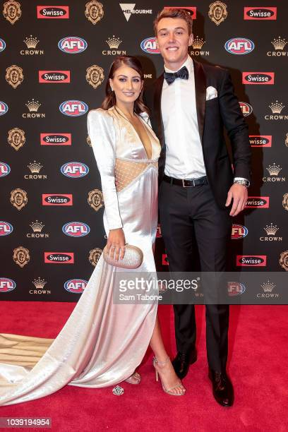 Monique Fontana and Patrick Cripps attends 2018 Brownlow Medal at Crown Entertainment Complex on September 24 2018 in Melbourne Australia